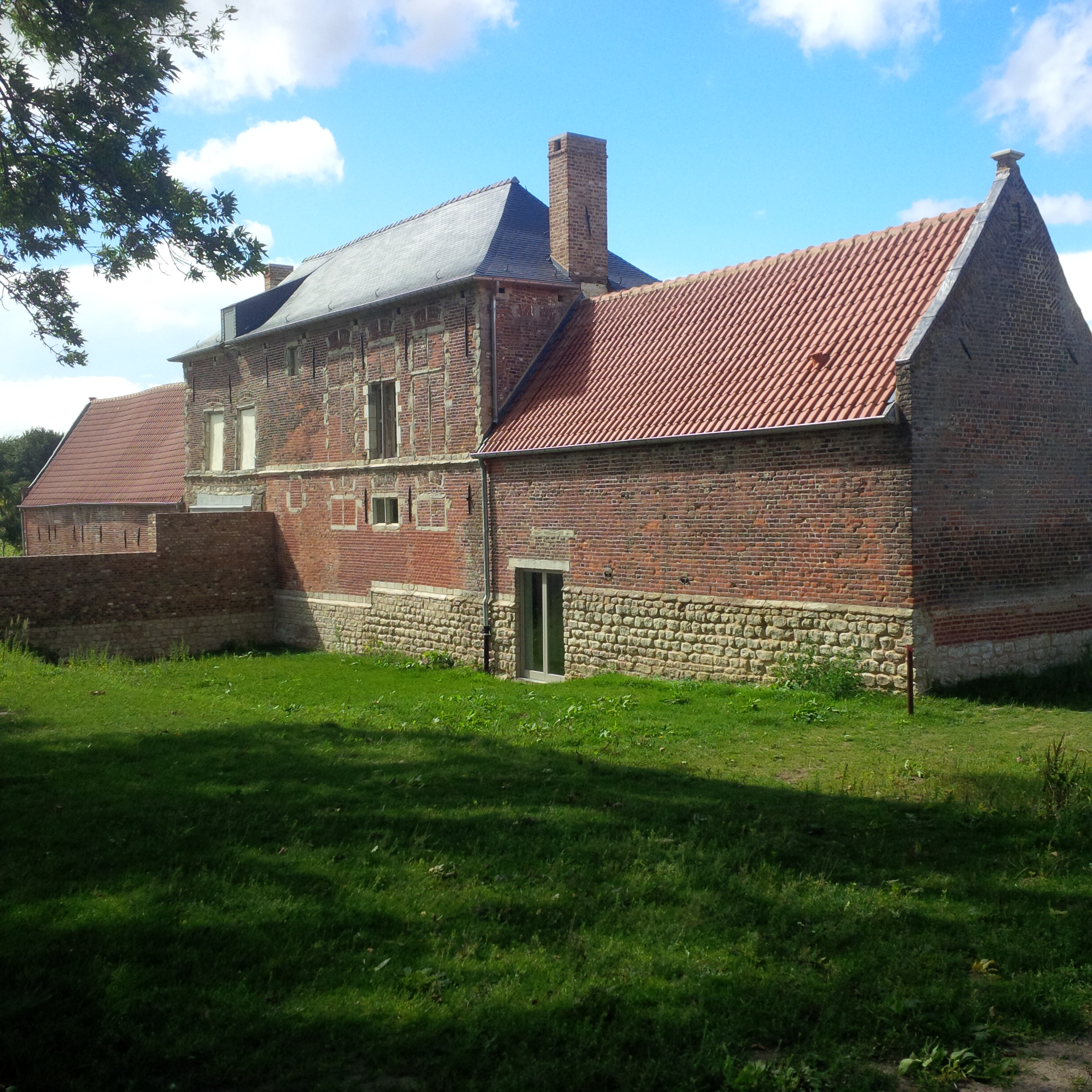 Hougoumont Farmhouse (viewed from the walled orchard that was so strongly defended by the allies)