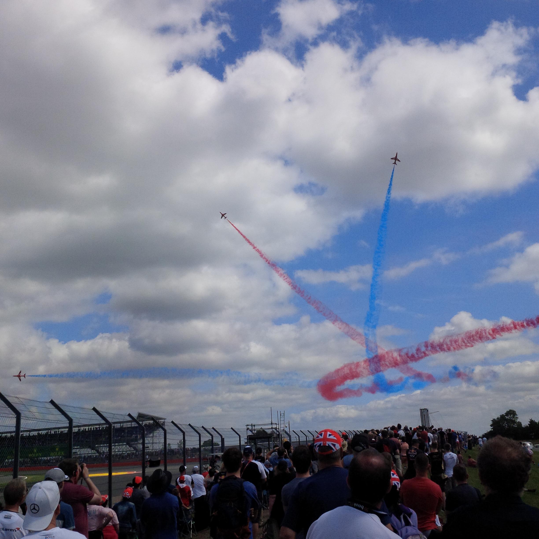 Red Arrows at British Grand Prix