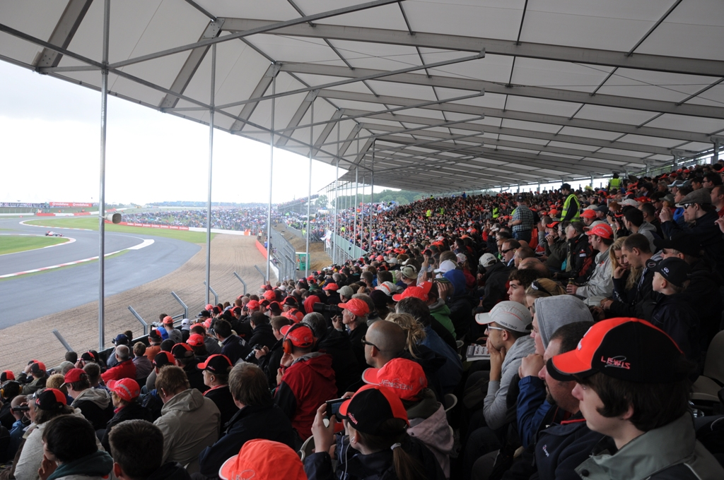 Packed crowds for the British Grand Prix